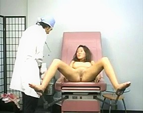 Hot teen girl at the gynecologist...
