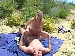 Big boobs beach...