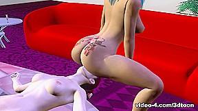 Lesbian pole dancer 3dtoontube...