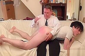 Son spanked...