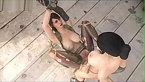 Lesdom bdsm 3d sex gameplay scene...