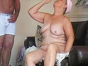 Stripping my 64 and feeding her my cum...