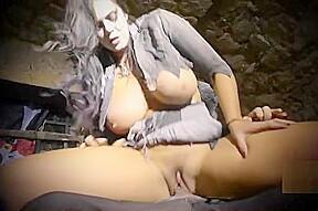 Heavenly busty huzzy video...