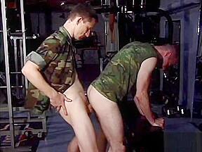 Military gym iron horse...
