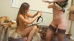 Babysitter punished in furs...