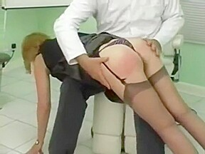 Two patients strapped on their barebottoms by their...