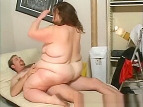 Massive fat in sex motion...