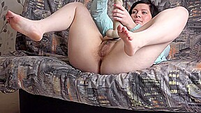 Hard a huge dildo...