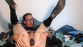 Emo sissy takes extreme dildo and gaping...