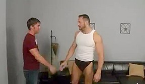 Daddy masseur gives pleasure to his young customer...