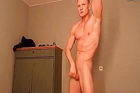 Cute hunk hot guy blond college jock naked...