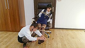 Chinese teacher tickling...
