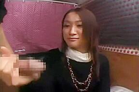 Japanese cfnm japanese girl watches stranger jerk catches...
