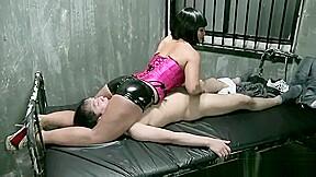 Ultimate femdom pleasure headscissor legs handjob fj...