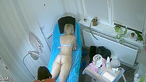 Hidden spy cam russian beaty salon pussy depilation...