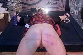 Wicked schoolgirl Antonia receives caned!