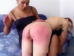 Amateur lezdom with hardcore spanking...