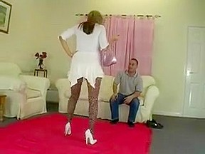 milf leopard spandex sits on his face