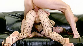 Submissive gets mouth fucked on a leash mia...