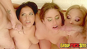 Group fuck site joins cathy and valentina for...