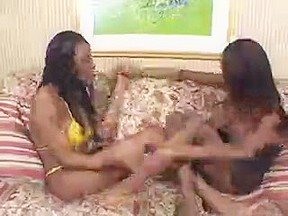 Double Teamed by Dark T-Girls
