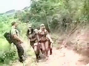 Hard sex with soldiers transsexuals