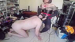Slave sucking he...