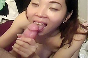 Japanese white dick cum on face...