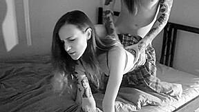 Young schoolgirls stockings...