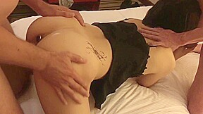 Asian wife shared with multiple creampie and dp...