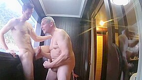 Bareback young boy on a boat bj...
