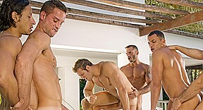 Angelo Marconi & Petter Fill & Austin Wilde & Sebastian Gola & Pedro Andreas in Heat Of The Moment, Scene #06