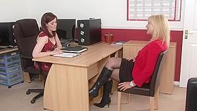 Newboss spanks secretary...