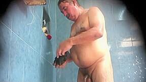 In sauna...