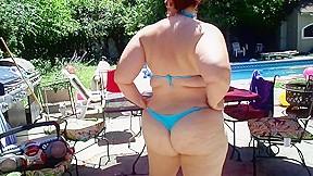 Bbw ursula in thong bikini...