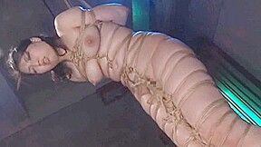 Ayaka shintani bound in shibari and brutally whipped...
