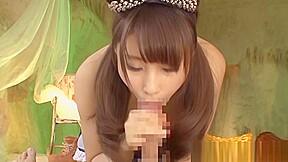 Doll shunka ayami enjoys giving oral sex...