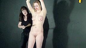 And bizarre lezdom bondage of blonde amb...
