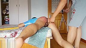 Chinese brutal spanking...