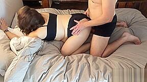 Good night cuddles turn love sex...