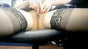 Amateur office masturbation...