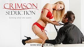In crimson seduction video...