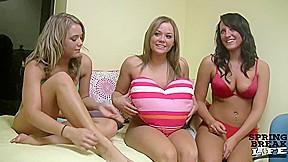 Twins playing with big boob friend springbreaklife...