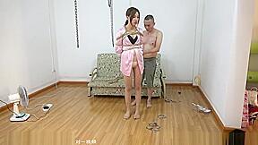 Silk sexy pajamas tied...