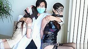 Chinese couple bondage...