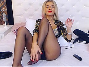 Cora shows naked in pantyhose...