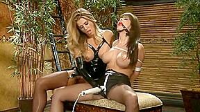 Bondage vibrator orgasm...