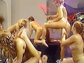 Great lesbian orgy vintage...