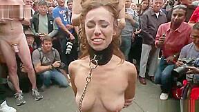 European with hot round butt in fetish porno...