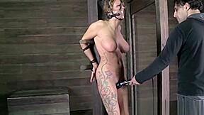 Bondage sub spanked brutally...